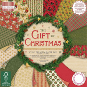 Premium Craft Cardstock First Edition 6x6 Designer Paper Pad - Gift of Christmas