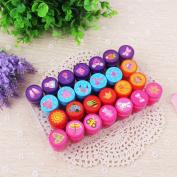 Qiyun 26Pcs/Set Rubber Stamp Set Kids Funny Plastic Self Inking Stamper Toys Baby DIY Crafts specification:Princess