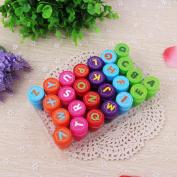 Qiyun 26Pcs/Set Rubber Stamp Set Kids Funny Plastic Self Inking Stamper Toys Baby DIY Crafts specification:Alphabet