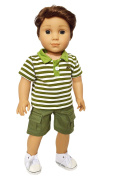 My Brittany's Green Polo Set for American Girl Boy Doll Clothes