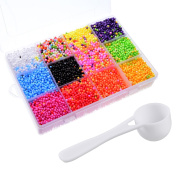 Sumind Colourful Foam Beads Tiny Styrofoam Ball Slime Beads and Spoon with Storage Box for Arts and Crafts DIY