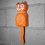 Orange Pumpkin Official LADY Kit Cat Clock jewelled Crystals