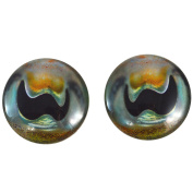 40mm Pair of Large Cuttlefish Glass Eyes, for Jewellery making, Arts Dolls, Sculptures, and More