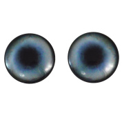 40mm Pair of Large Blue Husky Dog Glass Eyes, for Jewellery making, Arts Dolls, Sculptures, and More