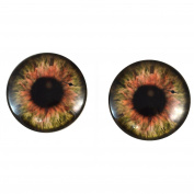 40mm Pair of Large Brown Steampunk Glass Eyes, for Jewellery making, Arts Dolls, Sculptures, and More