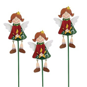 burton+Burton Hand-painted wooden, Angel pick with dangle legs by Tina Wenke