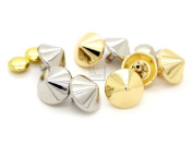 CRAFTMEmore Cone Spike Rivets Rapid Snap Decorative Rivets Studs Leathercraft Pack of 10 (15 mm