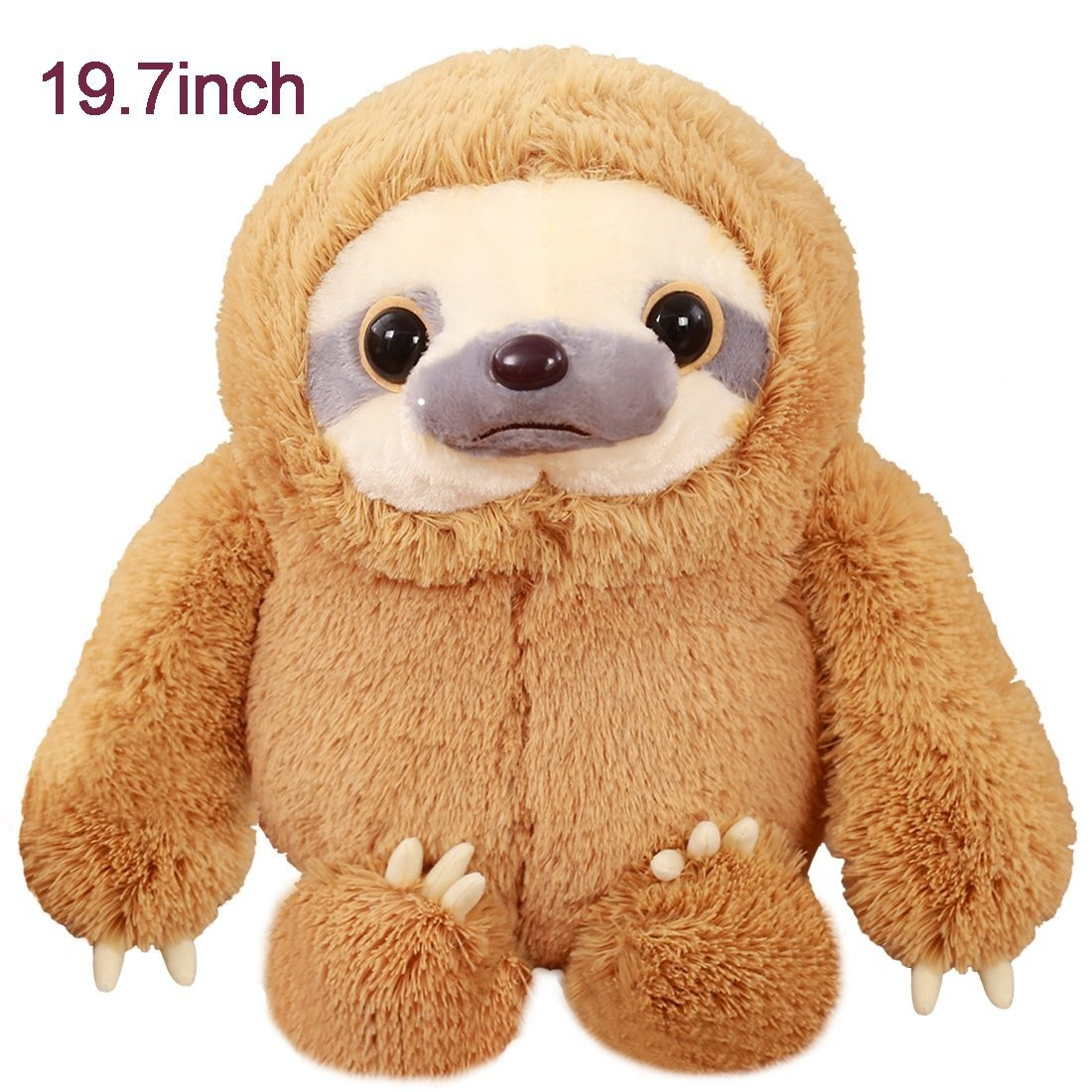 Winsterch Giant Sloth Bear Plush Sloth Stuffed Animal Toy Baby Doll