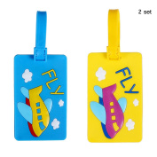 Nasis Cute Travelling Luggage Tag/ID Holder AL9012 pack of 2