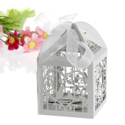 50Pcs/100Pcs Arich Love Bird Cut Design Candy Gift Boxes With Ribbon Wedding Party Favour