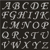 hot fix rhinestone motif,RHINESTONE IRON HEAT TRANSFER CAPITAL ALPHABET LETTERS and Numbers