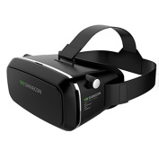 Pansonite 3D VR Glasses Virtual Reality Headset for VR Games and 3D Movie, Lightweight & Comfortable Even for Myopia with Adjustable Lens, Eye Care System for IOS and Android Smartphone