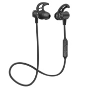 Bluetooth Headphones, SIX-QU Wireless Sport Earbuds with Mic, IPX4 Waterproof, HD Stereo Sweatproof Earphones, for Gym and Outdoors Workout, 6 Hour Battery, Noise Cancelling Headsets
