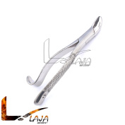 LAJA IMPORTS #24 DENTAL EXTRACTING FORCEPS, HOOK HANDLE