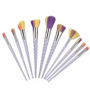 Yocitoy 10Pcs Unicorn Makeup Brush Set, Foundation Unicorn Blending Cosmetic Eyeshadow Brush