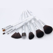 TTRWIN 9PC Marble Stripe Makeup Brushes Set Pro Cosmetic Brush Kits Eyeshadow Powder Foundation Blending Marbling Blusher Brush Tools