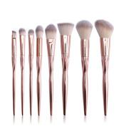 vmree 8 Pcs Professional Makeup Brushes Set Powder Foundation Contour Blending Eyeshadow Eyeliner Bronzer Lip Brush Kit