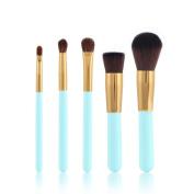 vmree 5 Pcs Professional Makeup Brushes Set Powder Foundation Contour Blending Eyeshadow Eyeliner Bronzer Lip Brush Kit