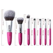 vmree 7 Pcs Professional Makeup Brushes Set Powder Foundation Contour Blending Eyeshadow Eyeliner Bronzer Lip Brush Kit