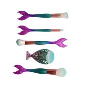 Becoler 5PCS Makeup Brushes for Foundation Eyeshadow Eyebrow Eyeliner Blush Powder Concealer Contour