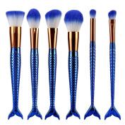 Becoler 6PCS Makeup Brushes Powder Foundation Concealer Eyeliner Makeup Brush Set