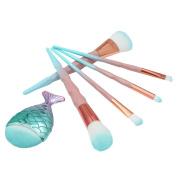 Becoler 6PCS Cosmetic Foundation Eyebrow Eyeliner Blush Cosmetic Concealer Make Up Brushes