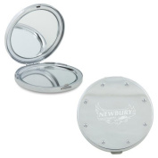 Newbury Silver Bling Compact Mirror 'Primary Mark Engraved'