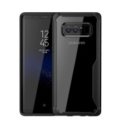 Galaxy Note 8 Case,Sunvy 2 in 1Hybrid Cover Transparent Clear Back [Scratch Resistant] [ Shock-Absorbing ] Protective TPU Bumper + PC Hard Back Cover for Samsung Galaxy Note 8 With a Screen Protector