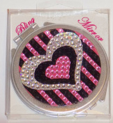 Bling Heart Compact Mirror