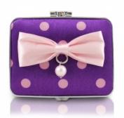 Jacki Design International JBD22985PP Polka Dot Romance Compact Double Mirror44; Purple