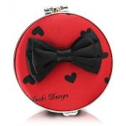 Jacki Design International JBD22700RD Glitzy Heart Compact Mirror44; Red