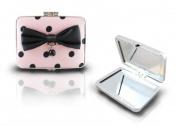 Jacki Design International JBD22985LP Polka Dot Romance Compact Double Mirror44; Light Pink