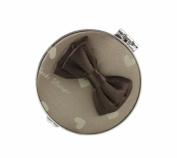 Jacki Design International JBD22700BG Glitzy Heart Compact Mirror44; Beige