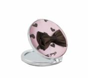 Jacki Design International JBD22700PK Glitzy Heart Compact Mirror44; Pink