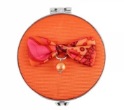 Jacki Design International ABD28087OR Summer Bliss Double Compact Mirror44; orange