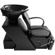 New MTN-G Ceramic Sink Backwash Bowl Barber Chair Unit Spa Salon Adjustable Equipment