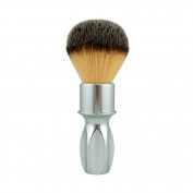 RazoRock 400 Plissoft Synthetic Shaving Brush - Silver Handle