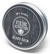 BEST Beard Balm with Argan Oil & Mango Butter - Styles, Strengthens & Softens Beards & Moustaches - Leave in Conditioner Wax for Men by Viking Revolution
