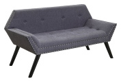 Furniture of America Hehnson Flared Arm Accent Bench Contemporary Style - Grey