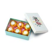 Mild East 6 Pcs Gold Bath Bombs Salt Ball Fresh Gift Box Bath Bubbles Bath Pearls