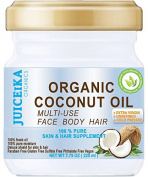 100 % PURE ORGANIC COCONUT OIL. EXTRA VIRGIN / UNREFINED COLD PRESSED. 100% Pure Moisture . Skin & Hair Supplement. 7.75 OZ