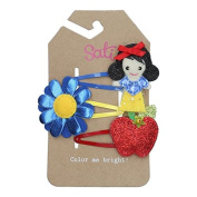 Sati Apple Fairy with Bella Set Hair Clips for Girls