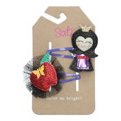 Sati Apple Fairy with Witch & Apple Hair Clips for Girls