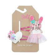 Sati The Moment of Love with Little Love Rabbit Hair Clips for Girls