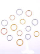 Hicarer 180 Pieces Hair Rings Braid Rings Hair Hoops Hair Loop Clips, 3 Colours, 2 Sizes