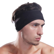 Mens Headband, Fascigirl Hair Band Breathable Elastic Sweatband Sports Headband for Running