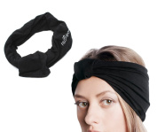 Hair Band, Fascigirl 2Pcs Womens Headband Wide Elastic Twisted Pleated Head Wrap Turban for Sport