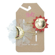 Sati Into the Sky with Moon & Sun Hair Clips for Girls