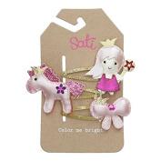 Sati Little Princess Trio Hair Clips for Girls