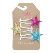 Sati Princess Shinny Star Hair Clips for Girls